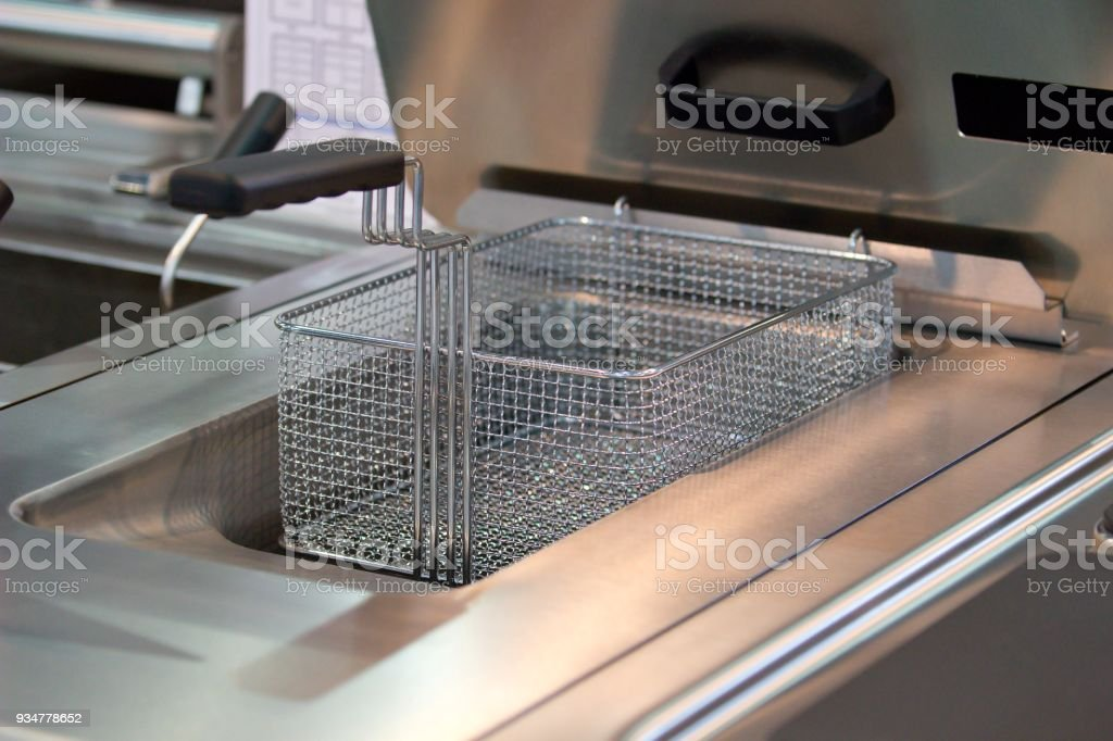 new professional fryer stock photo