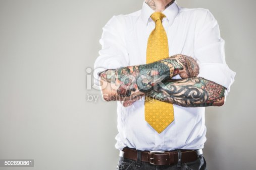 istock New Professional with Tattoos 502690861