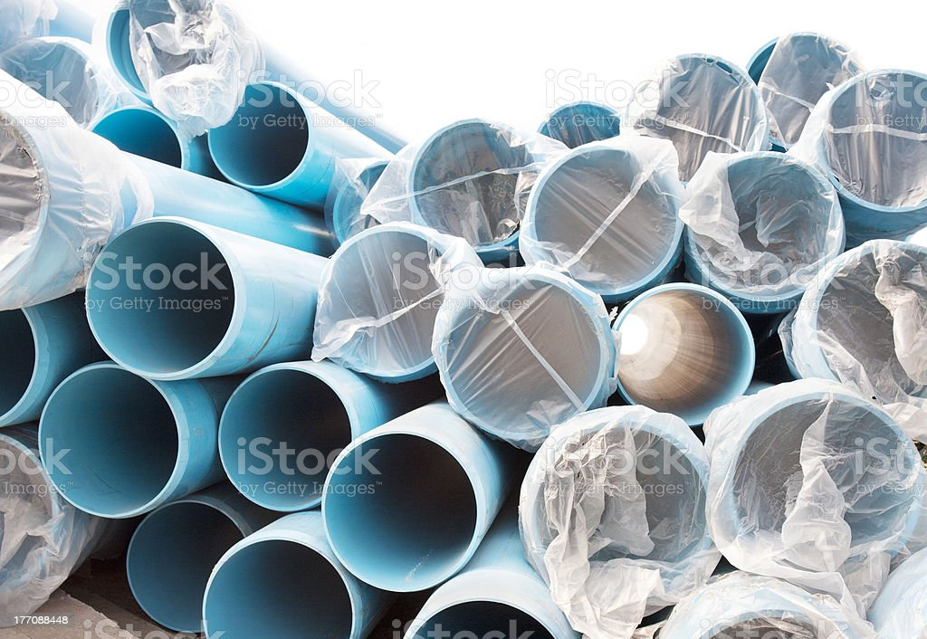 New PVC pipes for water city supply system royalty-free stock photo