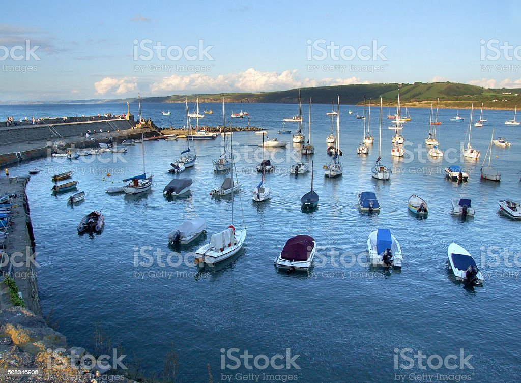 New Quay in Ceredigion, West Wales stock photo