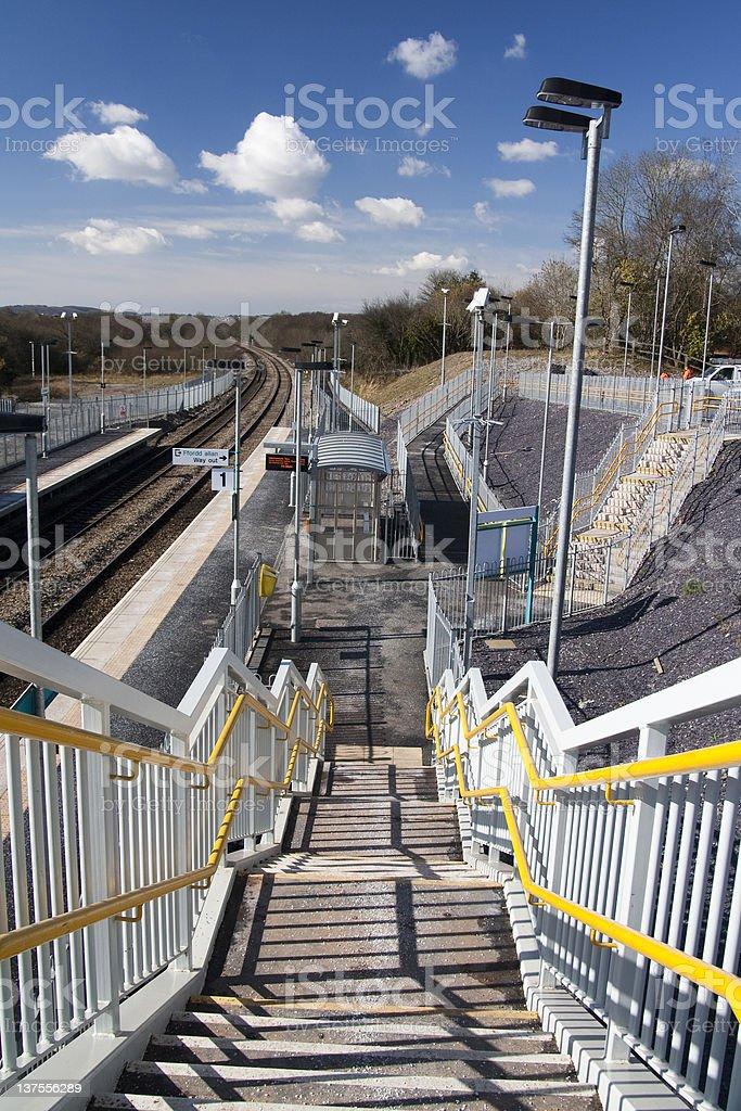 New railway station royalty-free stock photo