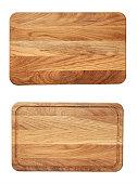 new rectangular wooden cutting board, top view