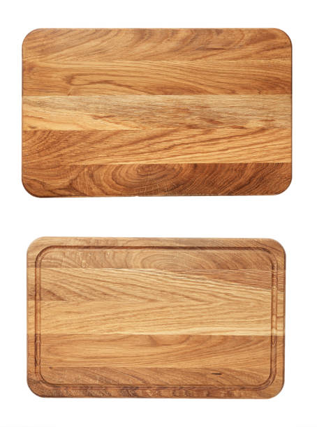 new rectangular wooden cutting board, top view - deska zdjęcia i obrazy z banku zdjęć