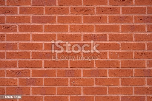 New Red Brick wall for background or texture. New red brick wall texture background