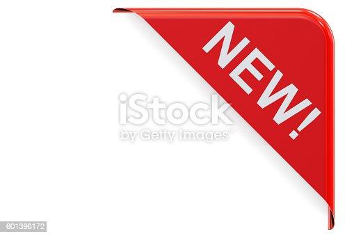 istock New red corner. 3D rendering 601396172