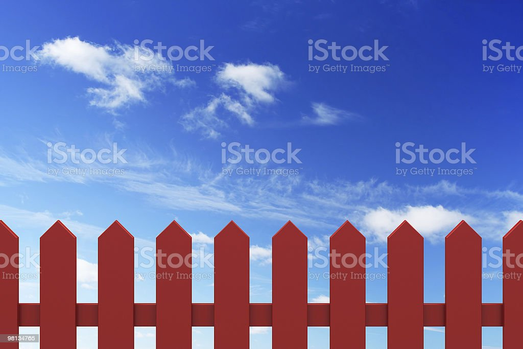 new red fence royalty-free stock photo
