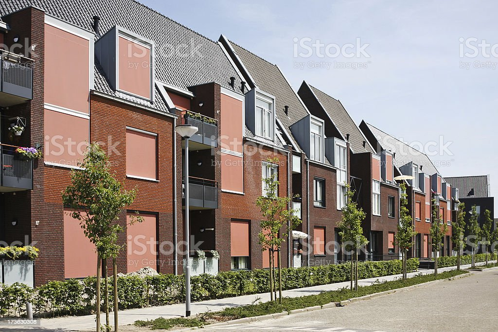 New red row houses # 2 royalty-free stock photo