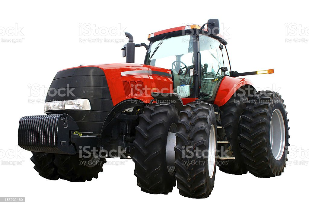 New red tractor royalty-free stock photo