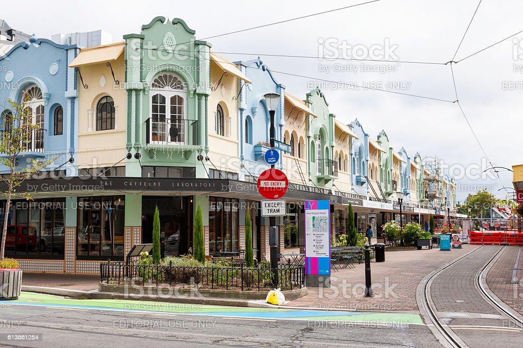 New Regent Street in downtown Christchurch, New Zealand stock photo