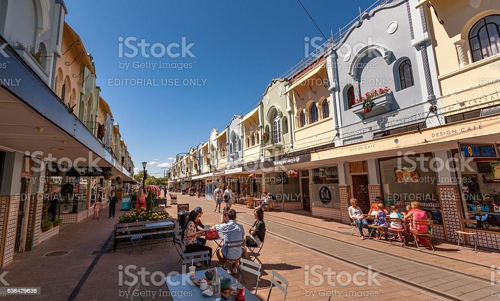 New Regent's Street, Christchurch stock photo