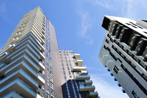 new residences of the district Porta Nuova in Milan. stock photo