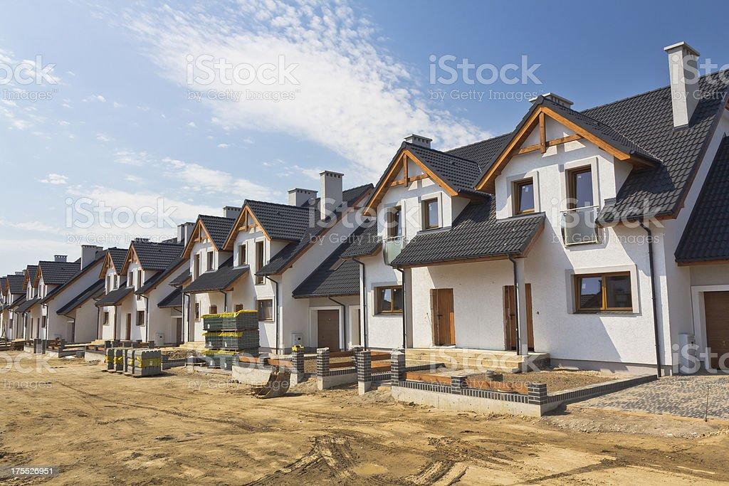 Neuen Wohngegend im Bau Lizenzfreies stock-foto