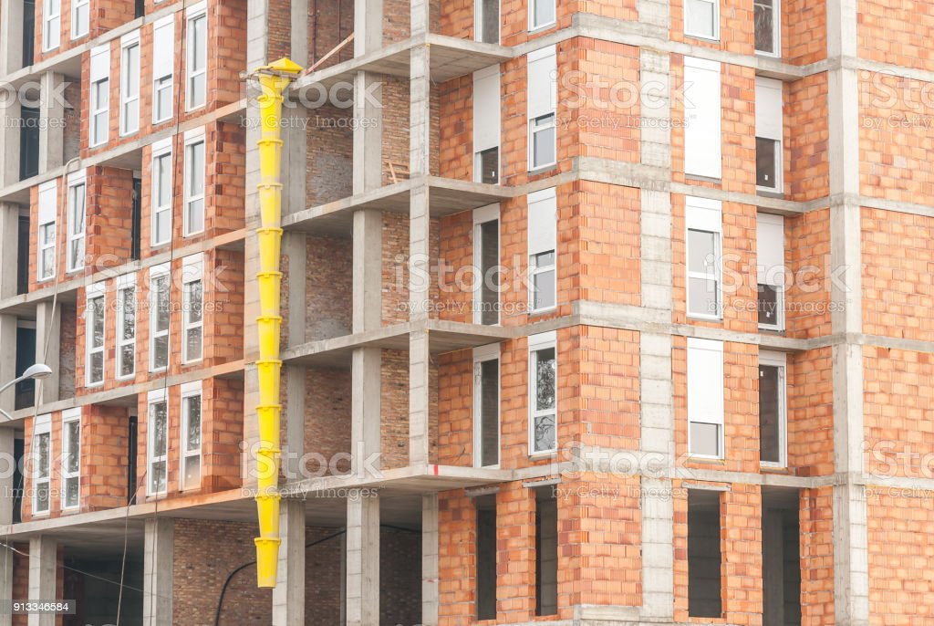 New Residential Building Construction Site Plastic Yellow ...