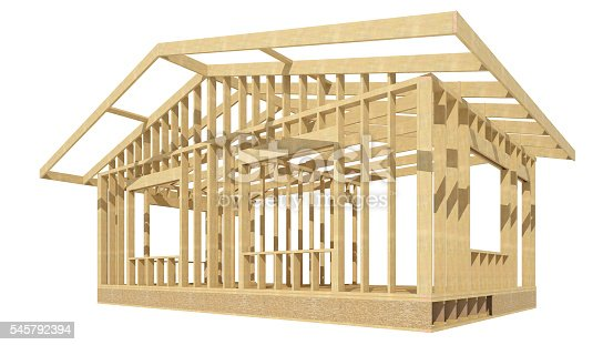 New Residential Construction Home Wood Framing Stock Photo & More ...