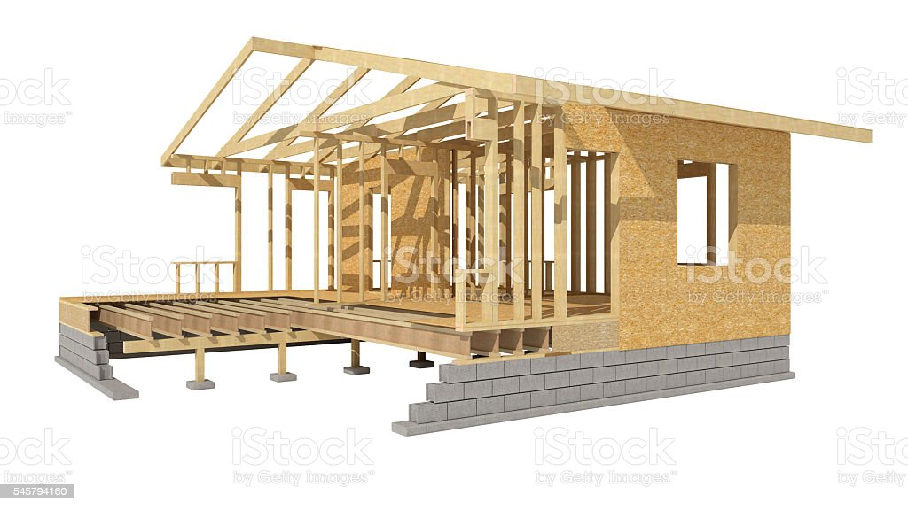 New Residential Construction Home Wood Framing stock photo   iStock