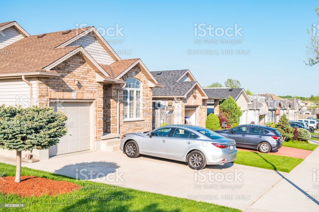 New residential district in London Ontario Canada stock photo