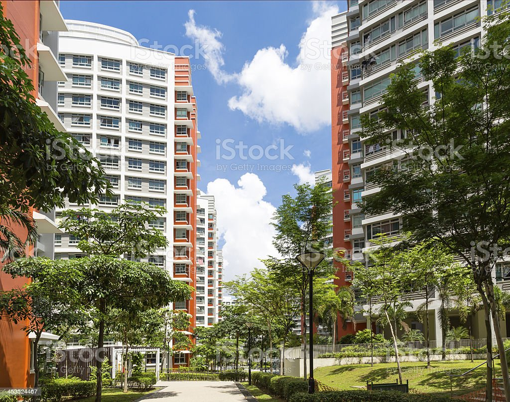 New Residential Estate royalty-free stock photo