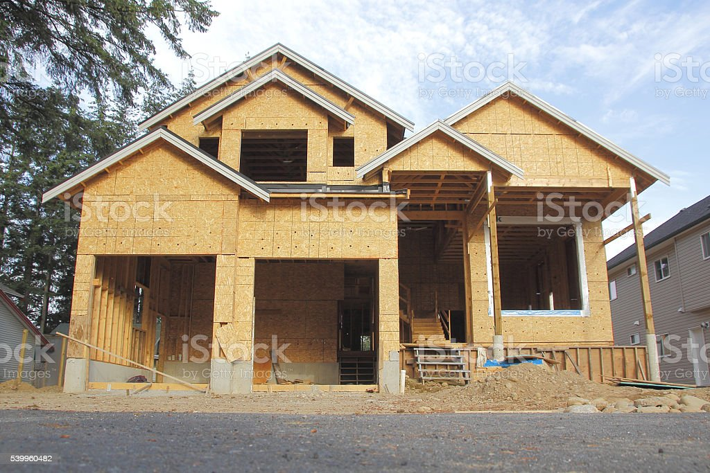 New Residential Home Construction stock photo