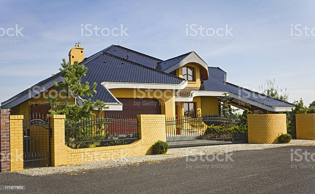 New Residential Home in the Suburb royalty-free stock photo