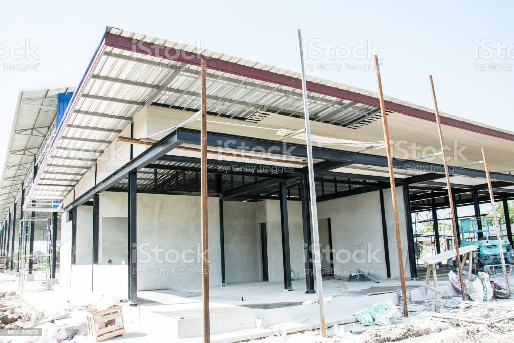 New Residential Home under Construction stock photo