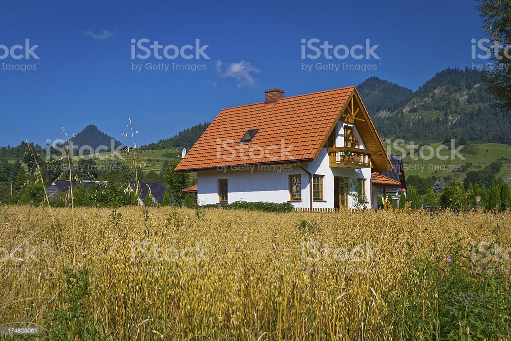 New residential House in cereal royalty-free stock photo