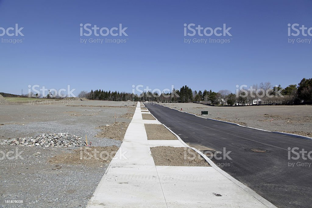 New residential suburbs royalty-free stock photo