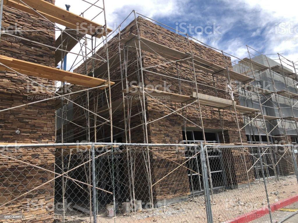 New retail building construction