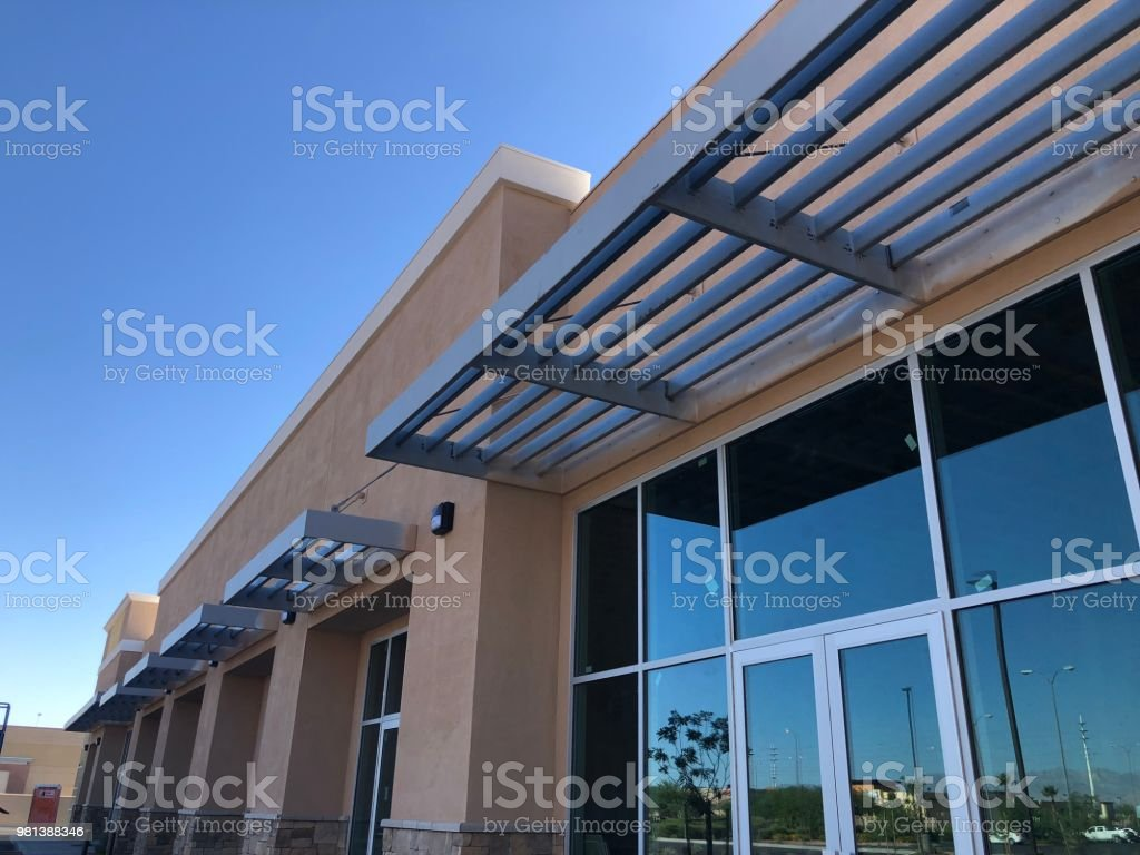 New retail business building