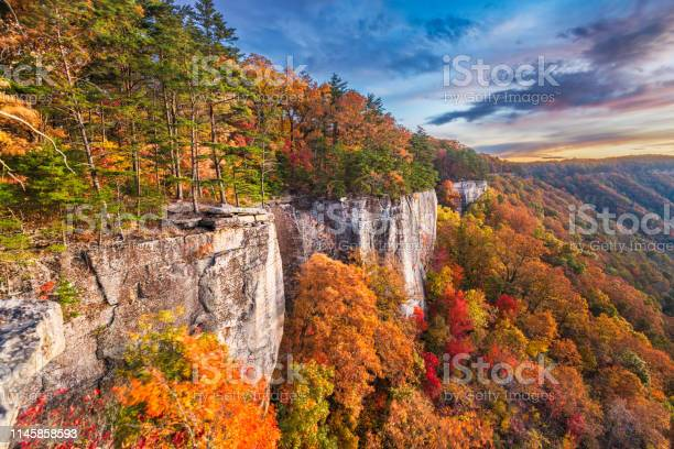 Photo of New River Gorge, West Virgnia, USA autumn morning
