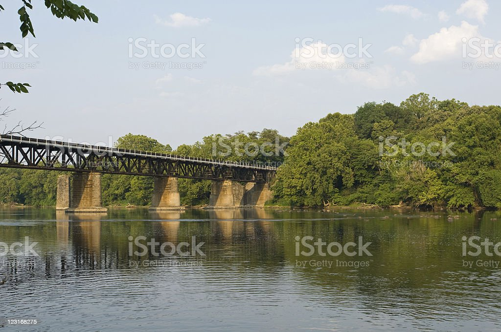 New River Train Bridge royalty-free stock photo