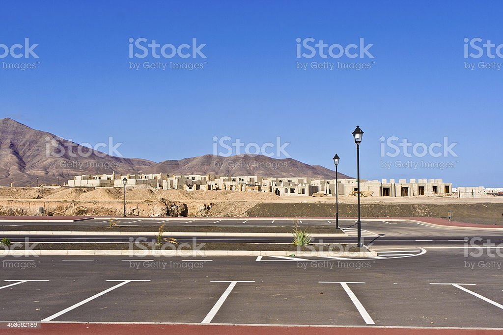 new roads for a development area royalty-free stock photo
