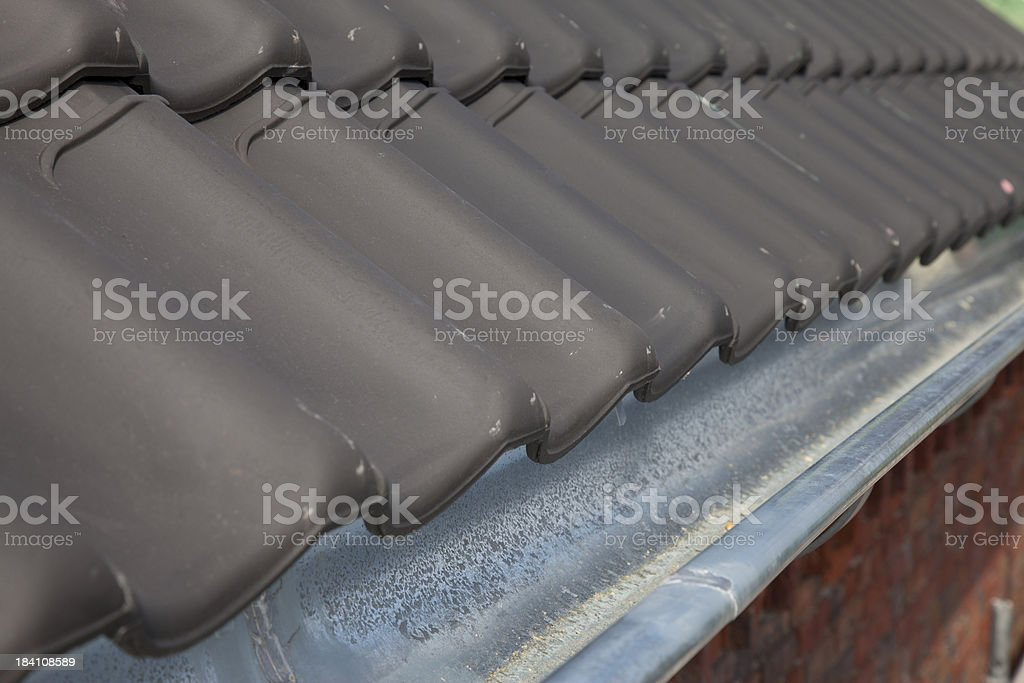 New roof and gutter. royalty-free stock photo