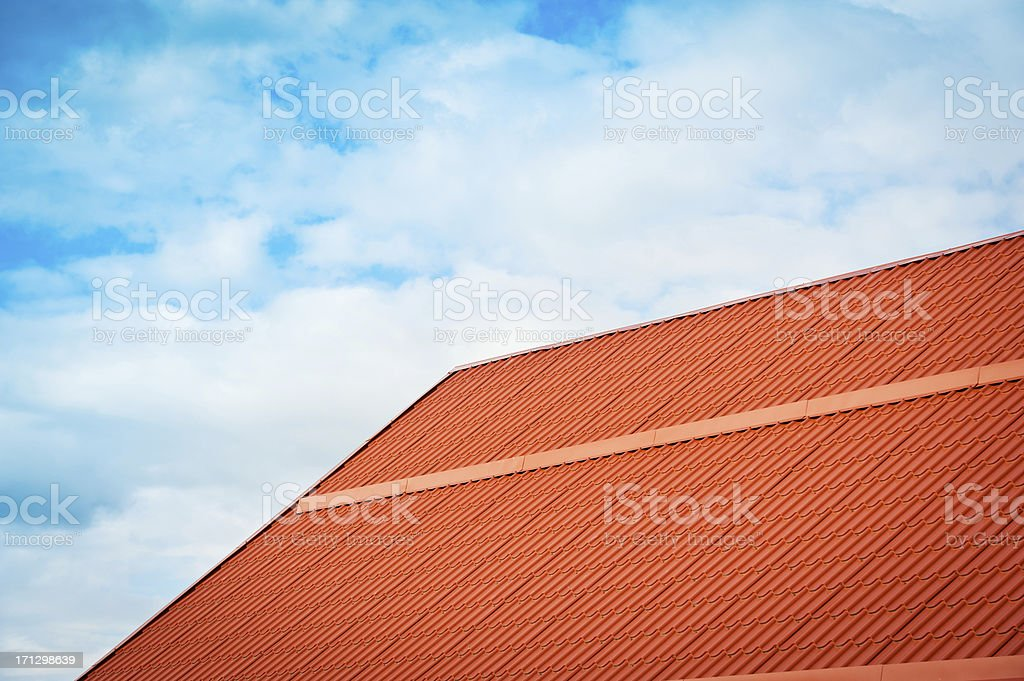 New roof royalty-free stock photo