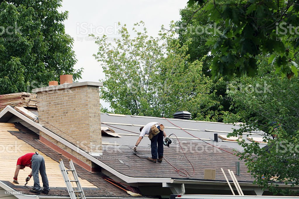 New roof! stock photo