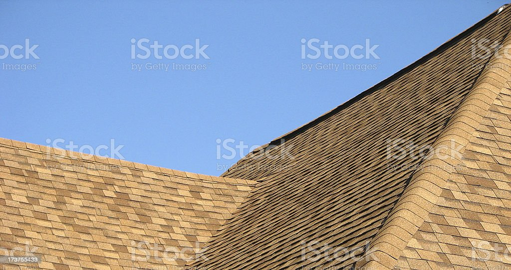 new roof section, bright royalty-free stock photo