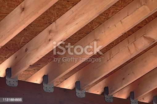New Roof Trusses View from Underneath