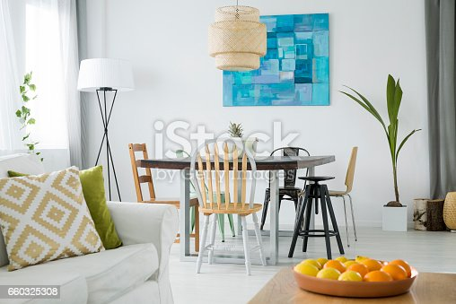 660325278istockphoto New room with dining table 660325308