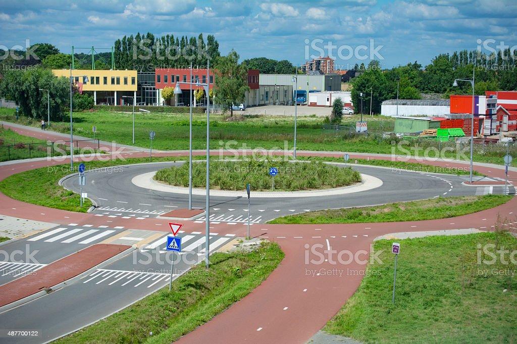 new Roundabout stock photo