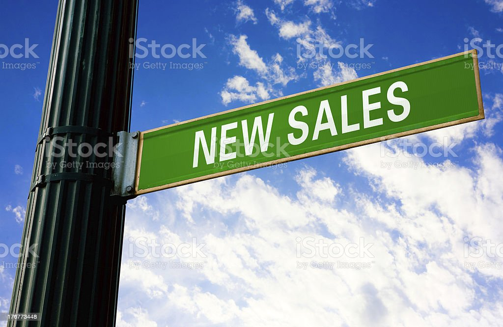 New Sales Road Sign royalty-free stock photo