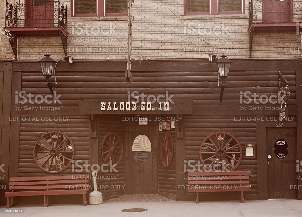New Saloon No.10 - Deadwood, South Dakota stock photo