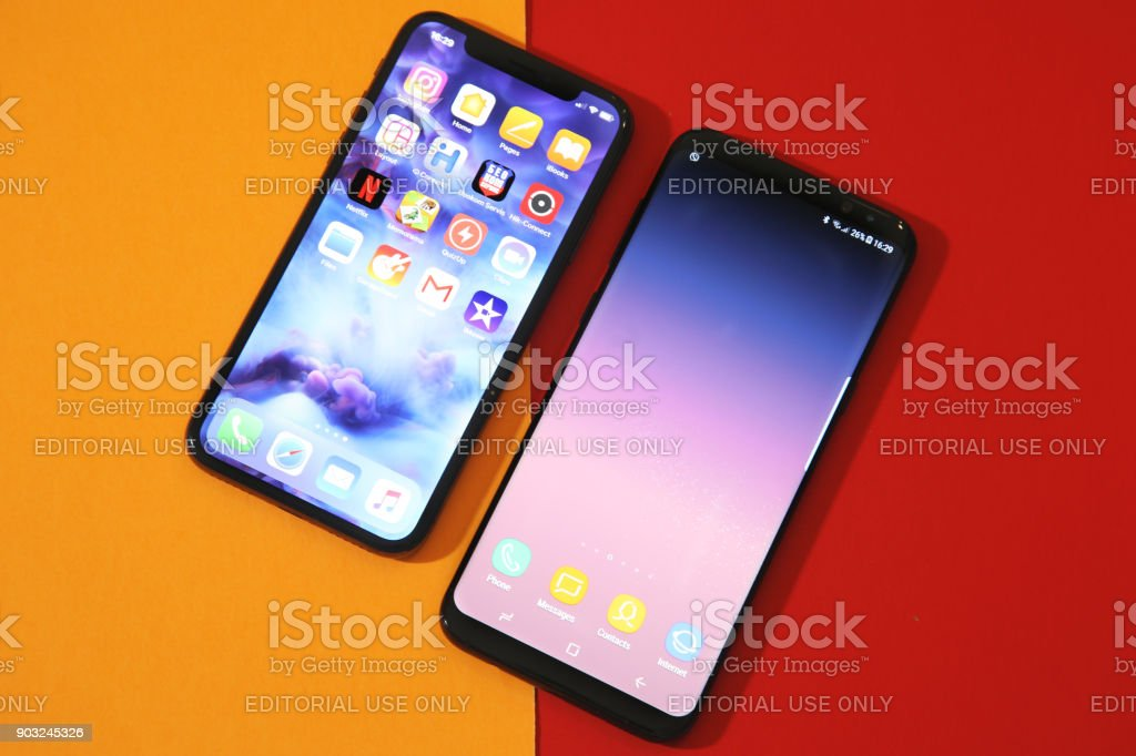 New Samsung S8 plus an Iphone X comparasion
