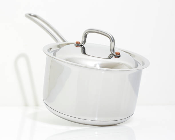 New Saucepan stock photo