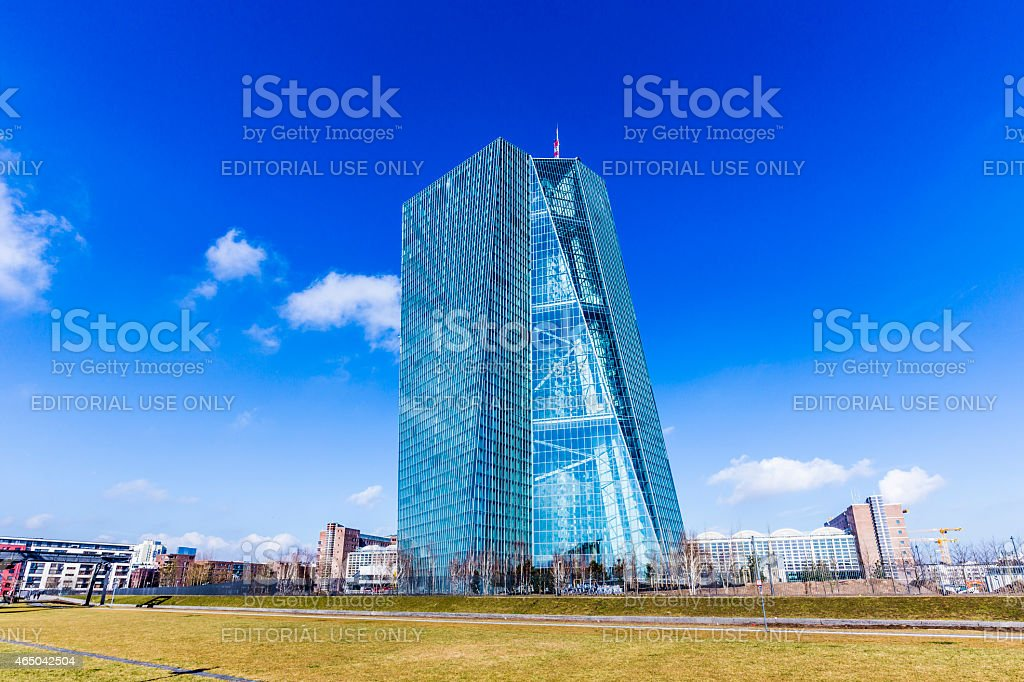 new seat of the European Central Bank in Frankfurt stock photo