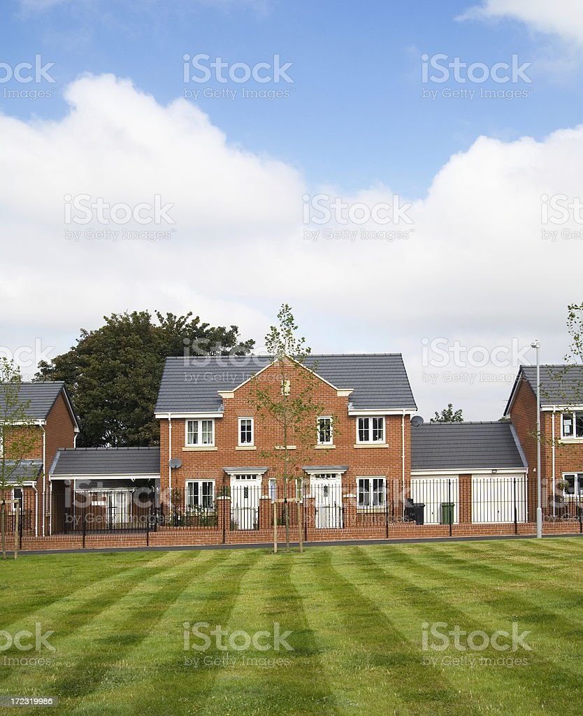 New semi detached houses UK stock photo
