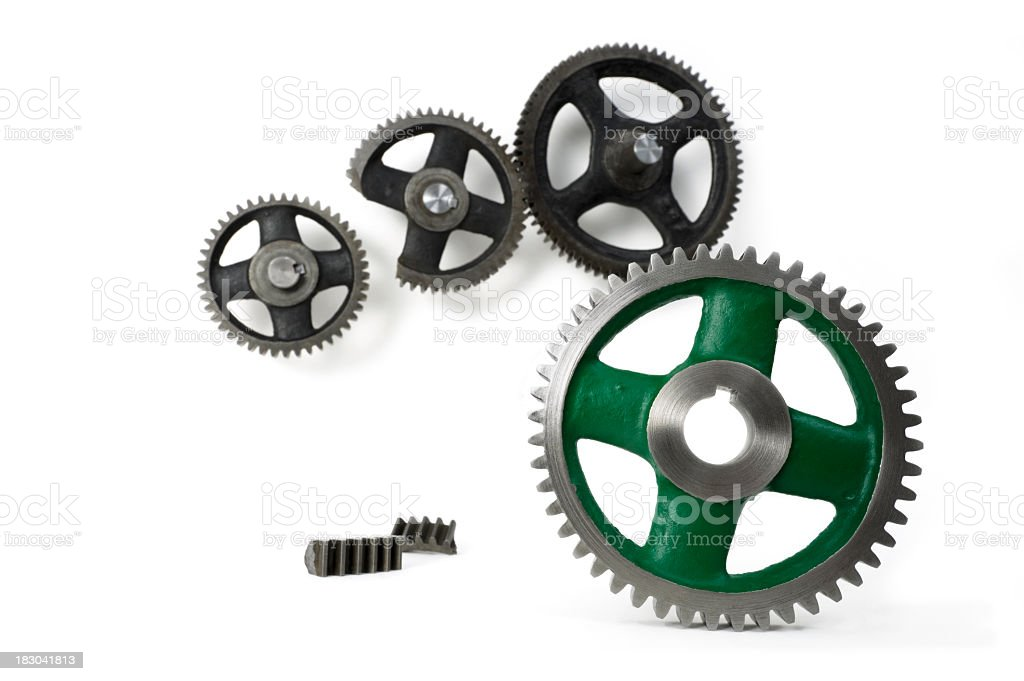 New shiny green replacement gears royalty-free stock photo