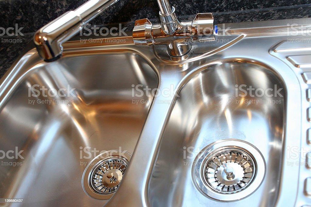 New Shiny Kitchen Sink stock photo