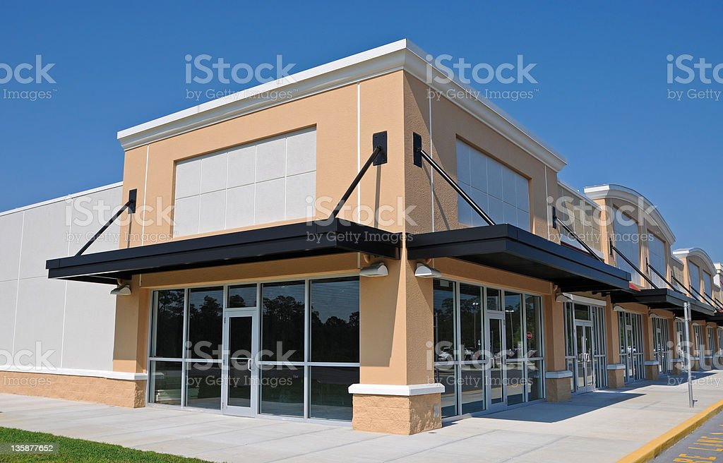 New shopping center stock photo more pictures of for Exterior design office buildings