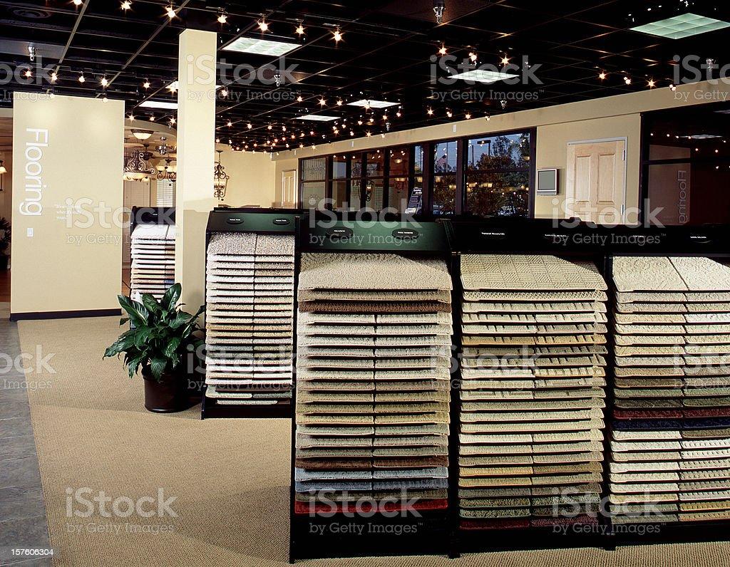 New Showroom Flooring Design Home Carpet royalty-free stock photo