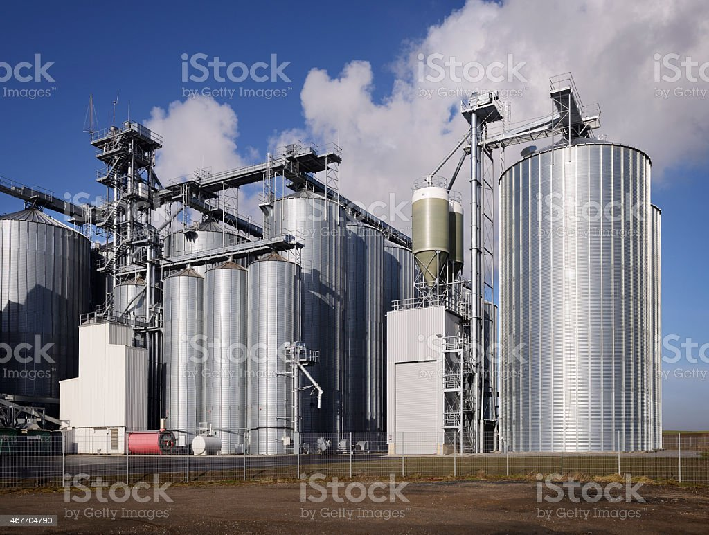 New silos / industrial unit / elevator stock photo