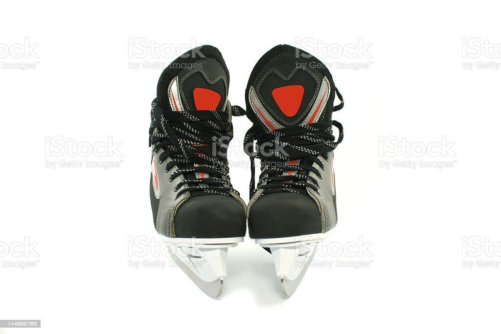 New skates isolated on white royalty-free stock photo